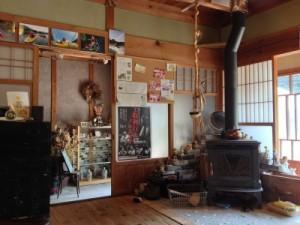 陽がほらの室内には、カヤックの写真が飾ってあった